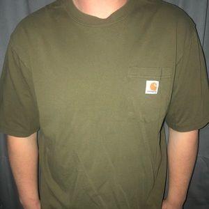 Olive green carhartt men's t shirt!